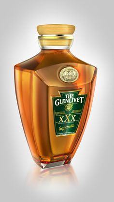 Packaging of the World: Creative Package Design Archive and Gallery: The Glenlivet Packaging 30 Years (Redesigned) Tequila, Vodka, Scotch Whiskey, Bourbon Whiskey, Whiskey Label, Liquor Bottles, Perfume Bottles, Fun Drinks, Alcoholic Drinks