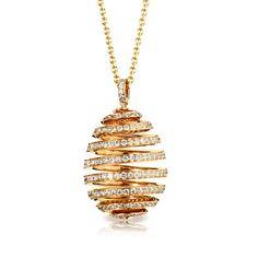 L'œuf spirale de Fabergé pendant