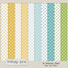 A Spring Day paper pack freebie from Lindsay Jane