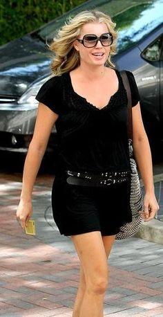 Who made Rebecca Romijn's brown purse and black sunglasses that she wore in Beverly Hills? Jennifer Hudson, Jennifer Connelly, Kate Hudson, Rebecca Gayheart, Rebecca Romijn, Balenciaga Purse, Fashion Dictionary, Denise Richards, Kristin Cavallari