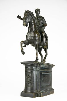 1790 Grand Tour bronze model of the Marcus Aurelius equestrian monument, Rome 2 Bronze, Grand Tour, 18th Century, Equestrian, Art Decor, Lion Sculpture, The Incredibles, Architectural Models, Architecture
