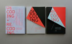 Brilliant piece by Rob Van Hoesel. Decoding + Recoding books for the 2010 Graphic Design Festival Breda.