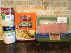 No Peek Chicken & Rice. Easiest chicken and rice recipe ever! My whole family loves it!
