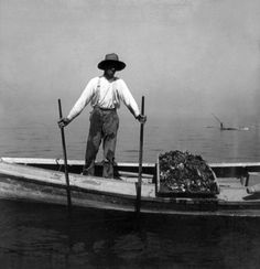 Oyster Fishing On The Chesapeake Bay - Maryland - C 1905 Photograph by International  Images