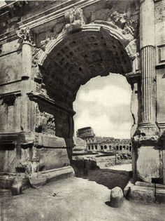 """archimaps: """"The Arch of Titus and the Colosseum, Rome """" Ancient Rome, Ancient History, Arch Of Titus, Building Icon, Roman Architecture, Small Group Tours, Italian Villa, Grisaille, Frames"""