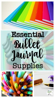 No need for fancy stationery. All you need to begin your bullet journal journey are a few essential bullet journal supplies. Planner Tips, Planner Supplies, Art Supplies, Bujo, Filofax, Planner Stickers, Organization Bullet Journal, Bullet Journal Essentials, Fine Point Pens