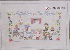 """Bonad """" Mitt Hem - Min Lycka """" 61 x 42 cm Folklore"""