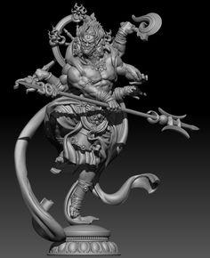 Shiva Art, Ganesha Art, Hindu Art, Buddha Kunst, Buddha Art, Indra Y Ashura, Shiva Tattoo Design, Art Station, Cg Art