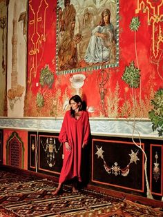 Aerin Lauder in #Morocco #red