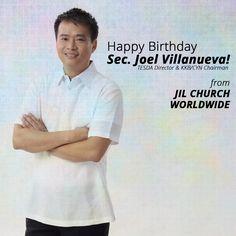 Happy Birthday Sec Joel Villanueva! TESDA Director & KKB/CYN Chairman  From JIL CHURCH WORLDWIDE #HBDJoelVillanueva