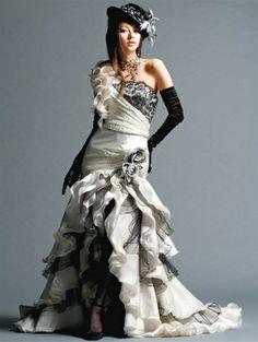 Gothic Wedding Dress via weddingdressfantasy.com