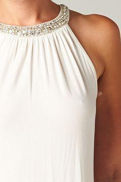 Crystal Joni Top in White