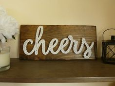 Cheers String Art Cheers Sign Bar Sign by ABUnderwoodCo2 on Etsy