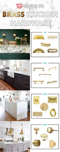 Looking to update your kitchen with brass hardware? Let's take a look at four main categories: bin pulls, bar pulls, ring pulls and, of course, knobs.