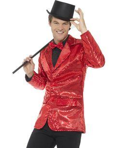 74ac36ed1b59 Stilig kavaj med röda paljetter - Maskeraddräkt för vuxna, köp  Maskeradkläder för vuxna på Vegaoo