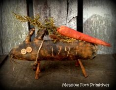 HaFair Primitive Animals by Anne Crowe on Etsy