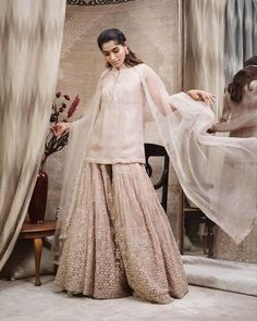 Best Labels To Buy Gorgeous Sharara Suits From! Pakistani Bridal, Pakistani Dresses, Anarkali Bridal, Indian Bridal, Indian Dresses, Indian Attire, Indian Wear, Indian Designer Outfits, Designer Dresses