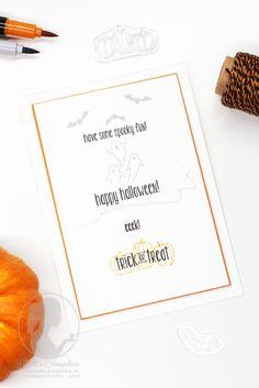 Nellis Stempeleien:  Halloweenkarte mit dem Stampin' UP! Stempelset Spooky Fun! Es muss nicht immer düster sein.