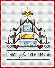 2014 Christmas Card free cross stitch pattern