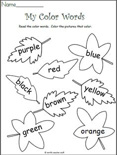 I Know My Colors (Leaves) Teacher Ideas Kindergarten