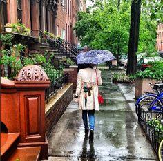 Rainy New York streets.