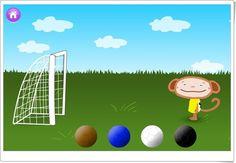 """""""Oliver chuta a gol"""" de babytv.com (Colores en inglés)"""