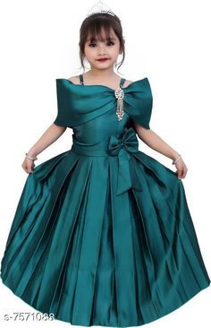 Checkout this latest Frocks & Dresses Product Name: *Pretty Elegant Girls Dresses* Fabric: Silk Sleeve Length: Short Sleeves Pattern: Solid Multipack: Single Sizes: 3-4 Years (Bust Size: 27 in, Length Size: 26 in)  4-5 Years, 5-6 Years, 6-7 Years, 7-8 Years, 8-9 Years, 9-10 Years, 10-11 Years, 11-12 Years, 12-13 Years, 13-14 Years, 14-15 Years Easy Returns Available In Case Of Any Issue   Catalog Rating: ★4.3 (1776)  Catalog Name: Pretty Elegant Girls Dresses CatalogID_1223999 C62-SC1141 Code: 284-7571088-6651