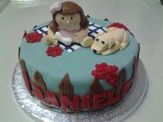 Tarta fondant por el primer cumpleaños de Daniela  www.cakeandfun.com #tarta #fondant #tartafondant #sevilla #sevillahoy