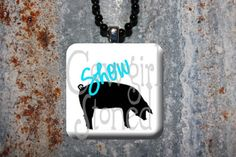 Show Pig Necklace  FFA 4H by CowgirlStoned on Etsy, $7.00