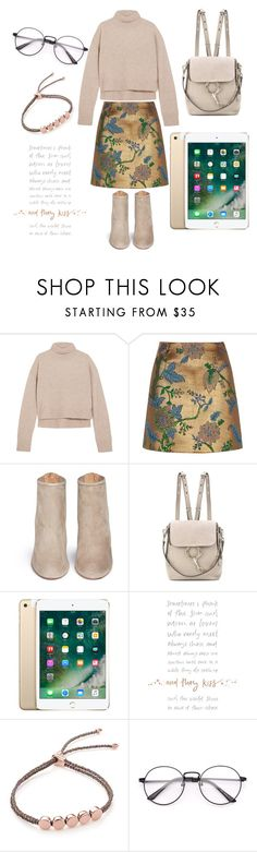"""addicted to gold"" by jeonayla on Polyvore featuring Rejina Pyo, River Island, Aquazzura, Chloé and Monica Vinader"