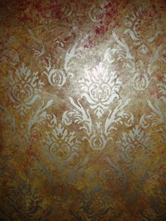 Mural by Kate Gillery at http://briarcottagestudio.blogspot.com/ Detail of faux finish