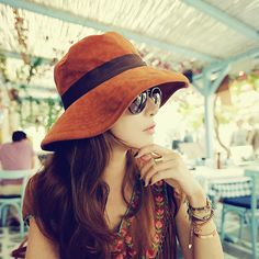 2016 New Retro wide-brimmed hat Anti-uv large sun-shading hat women s c89d80f8aff2
