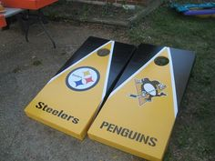 Pittsburgh Penguins Cornhole Boards and by CustomBackyardgames, $230.00