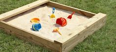 Easy plans to build a sandbox for you kids...they'll love it!