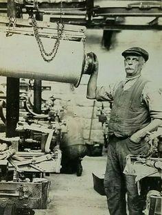 RPPC Workman Machinist Machine Shop Early 1900's Postcard Steam Punk Unposted