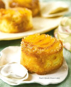 Upside down peach cakes.  Ohhhh!