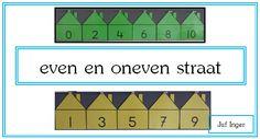 In de methode 'De wereld in getallen' moeten de leerlingen al vrij snel het verschil weten tussen even en oneven getallen. De leerlingen in mijn groep 3 hadden daar veel moeite mee en daarom heb ik vorig jaar twee 'straten' voor hen gemaakt. Op mijn prikbord heb ik dit jaar links de even straat en …