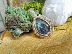 Wire Wrapped Jewelry, Labradorite Wire Wrap Pendant, Wire Wrap Pendant, Labradorite Wire Wrap, Healing Crystals & Stones, Wire Wrapped Stone by CrystalDestinies on Etsy