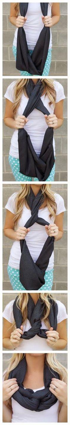 Conseils et idées mode pour homme et femme, comment bien nouer une écharpe fine et courte ou longue, de jolis noeuds.