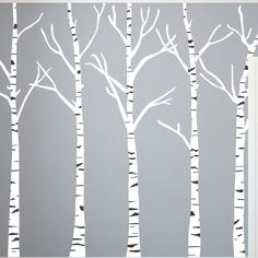 Birch Trees Silhouettes Forrest - Vinyl Wall Art Decal for Homes, Offices, Kids Rooms, Nurseries, Schools, High Schools, Colleges, Universities   Dana Decals