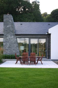 Andrew O'Brien | Architects Bungalow Designs, Bungalow Ideas, Bungalow Renovation, Bungalow House Design, Modern Bungalow Exterior, House Designs Ireland, Dormer Bungalow, Cottage Extension, Bootroom