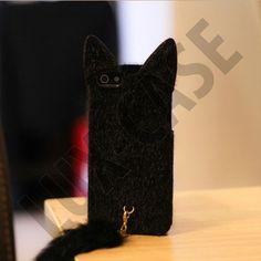 Miau (Sort) iPhone 5 Deksel