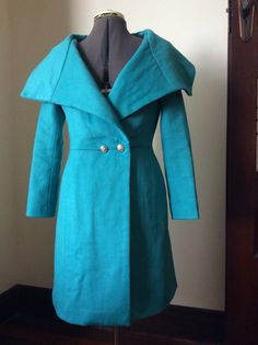 Burda 2014-11-111, in turquoise wool from Gay Naffine, for Winter 2015