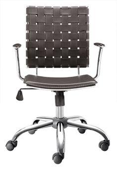 Criss Cross Office Chair Espresso By Zuo – Barcelona Designs