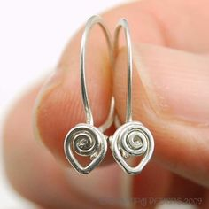 Fancy Silver Wire Wrapped Secure Ear Wire PDF - Instant Download Wire Jewelry Tutorial Instruction