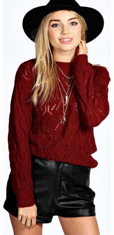 boohoo Elle Leaf Ladder Soft Knit Jumper - wine azz19181 Go back to nature with your knits this season and add animal motifs to your must-haves. When youre not wrapping up in woodland warmers, nod to chunky Nordic knits and polo neck jumpers in peppered mar http://www.comparestoreprices.co.uk/womens-clothes/boohoo-elle-leaf-ladder-soft-knit-jumper--wine-azz19181.asp