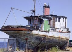 Abandoned Relic Boat Photograph