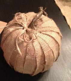 Burlap pumpkin ~ available at HollyLaneGifts on etsy