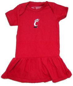 Creative Knitwear University of Cincinnati Bearcats Baby Footed Romper