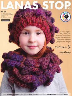 Catalogue Lanas Stop Enfants 129. Découvrez les nombreux modèles de tricot et accessoires enfants de la nouvelle collection automne hiver 2014/15 de Lanas Stop.